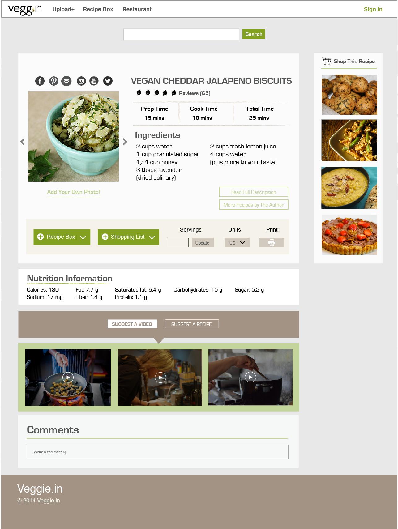 Veggie vegan recipe site melinda yang ux portfolio mockup recipe box forumfinder Choice Image
